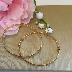 Jewelry - 🌸SOLD, 18kS/S GOLD HINGED BRACELETS SOLD🌸